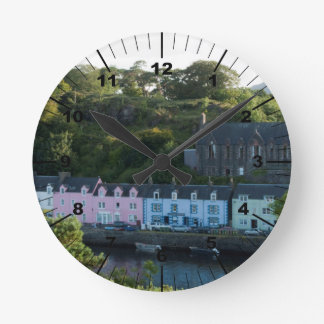 Beautiful Portree scotland Round Clock