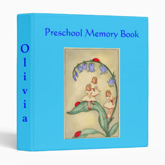 Beautiful Preschool Memory Book Binder -Vintage