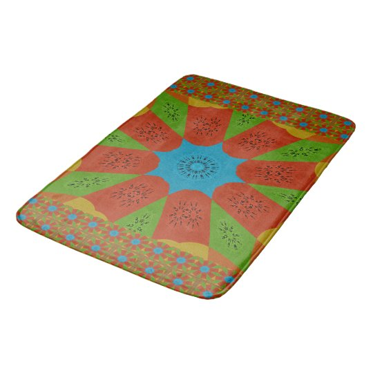 Beautiful Pretty Unique Exceptional colours design Bath Mat