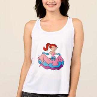 Beautiful princess cartoon. tank top
