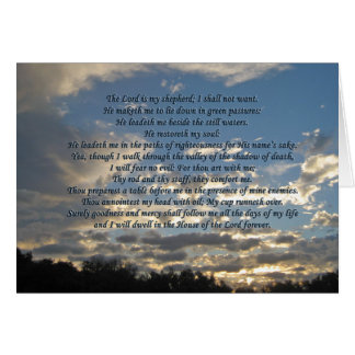 Beautiful Psalm 23 Notecards Card