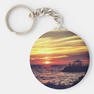 Beautiful Puerto Vallarta Sunset Keychain