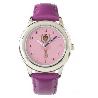 Beautiful Purple African American Ballerina Wristwatch