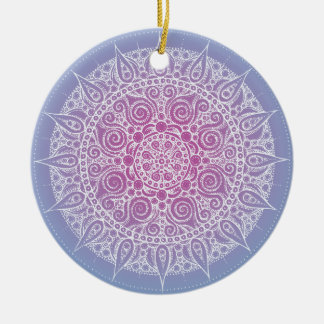 Beautiful Purple/Blue Design Ceramic Ornament