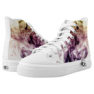 Beautiful Purple Brown Smoky Dust High Tops
