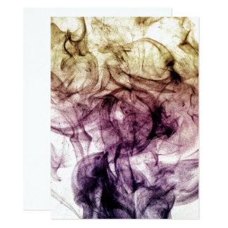 Beautiful Purple Brown Smoky Dust Invitation