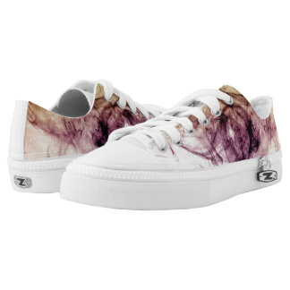 Beautiful Purple Brown Smoky Dust Low-Top Sneakers