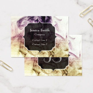Beautiful Purple Brown Smoky Dust Monogram Business Card