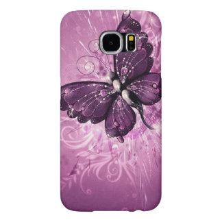 beautiful purple butterfly vector art samsung galaxy s6 cases