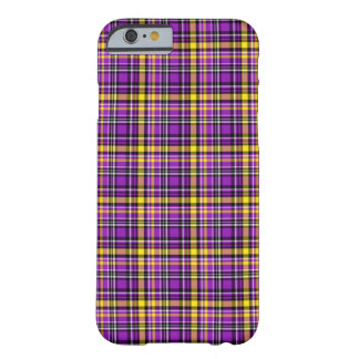 Beautiful purple checkered Pattern Barely There iPhone 6 Case
