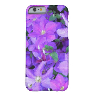Beautiful Purple Clematis Barely There iPhone 6 Case