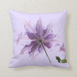 Beautiful Purple Clematis Throw Pillow