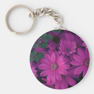 Beautiful Purple Floral Keychain
