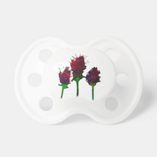 Beautiful Purple Flower Design baby soother