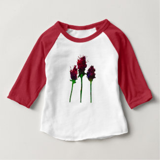 Beautiful Purple Flower Design Baby T-Shirt