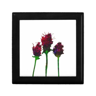 Beautiful Purple Flower Design Trinket Box