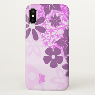 beautiful purple flowers art nature iPhone x case