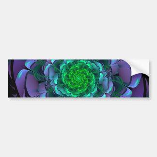 Beautiful Purple & Green Aeonium Arboreum Zwartkop Bumper Sticker