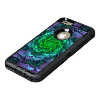 Beautiful Purple & Green Aeonium Arboreum Zwartkop OtterBox Defender iPhone Case