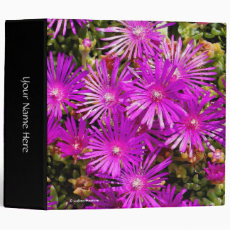 Beautiful Purple Iceplants Vinyl Binder