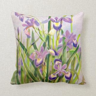 Beautiful Purple Irises Throw Pillow