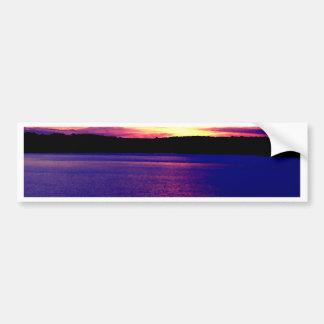 Beautiful Purple Lake Sunset Bumper Sticker