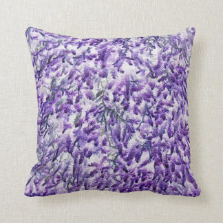 Beautiful purple moss print pillow