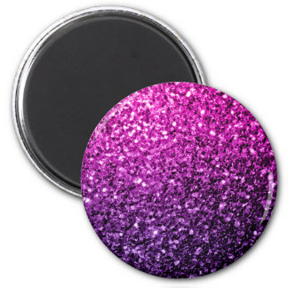 Beautiful Purple Pink Ombre glitter sparkles 2 Inch Round Magnet
