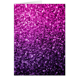 Beautiful Purple Pink Ombre glitter sparkles Card
