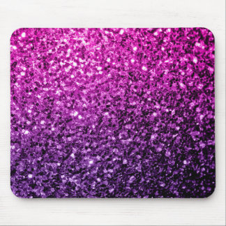 Beautiful Purple Pink Ombre glitter sparkles Mouse Pad