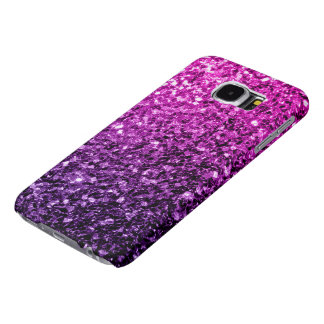 Beautiful Purple Pink Ombre glitter sparkles Samsung Galaxy S6 Cases