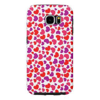 beautiful purple red love hearts vector art samsung galaxy s6 cases