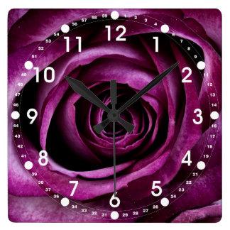 Beautiful Purple Rose Flower Petals Girly Gifts Clocks