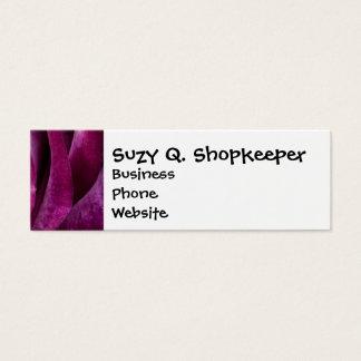 Beautiful Purple Rose Flower Petals Girly Gifts Mini Business Card