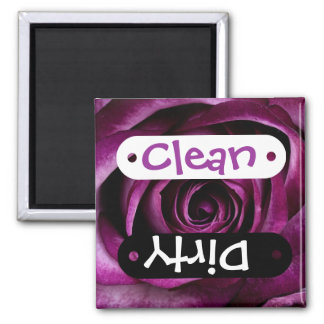 Beautiful Purple Rose Flower Petals Girly Gifts Square Magnet