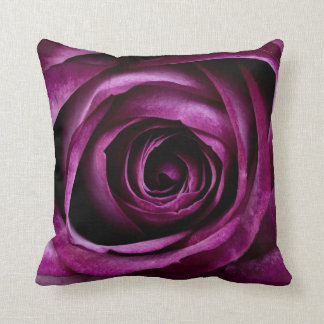 Beautiful Purple Rose Flower Petals Girly Gifts Throw Pillow