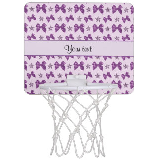 Beautiful Purple Satin Bows Mini Basketball Hoop