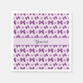 Beautiful Purple Satin Bows Napkin