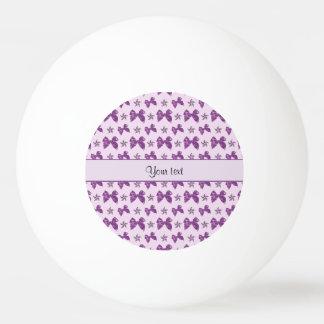 Beautiful Purple Satin Bows Ping Pong Ball