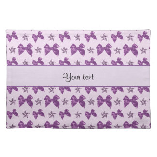 Beautiful Purple Satin Bows Placemat