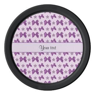 Beautiful Purple Satin Bows Poker Chips