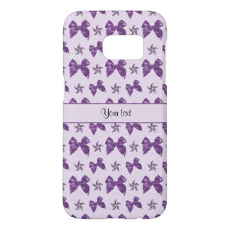 Beautiful Purple Satin Bows Samsung Galaxy S7 Case