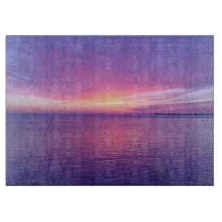 Beautiful Purple Sunset over Ocean CT Cutting Board
