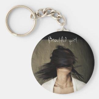 beautiful quiet basic round button keychain