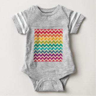 Beautiful Rainbow Chevron Baby Bodysuit