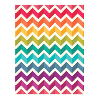 Beautiful Rainbow Chevron Letterhead