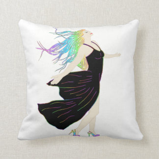 Beautiful Rainbow Goddess Throw Pillow