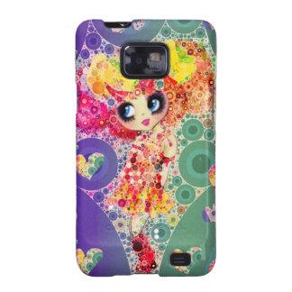 Beautiful Rainbow KAWAII Girl PinkyP Harajuku Samsung Galaxy SII Cases