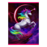 beautiful rainbow unicorn poster
