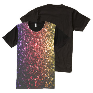 Beautiful Rainbow yellow red purple sparkles All-Over-Print T-Shirt